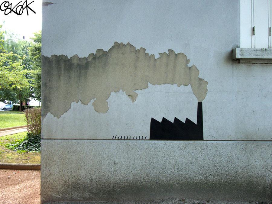 oakoak streetart artiste stephanois manufacture