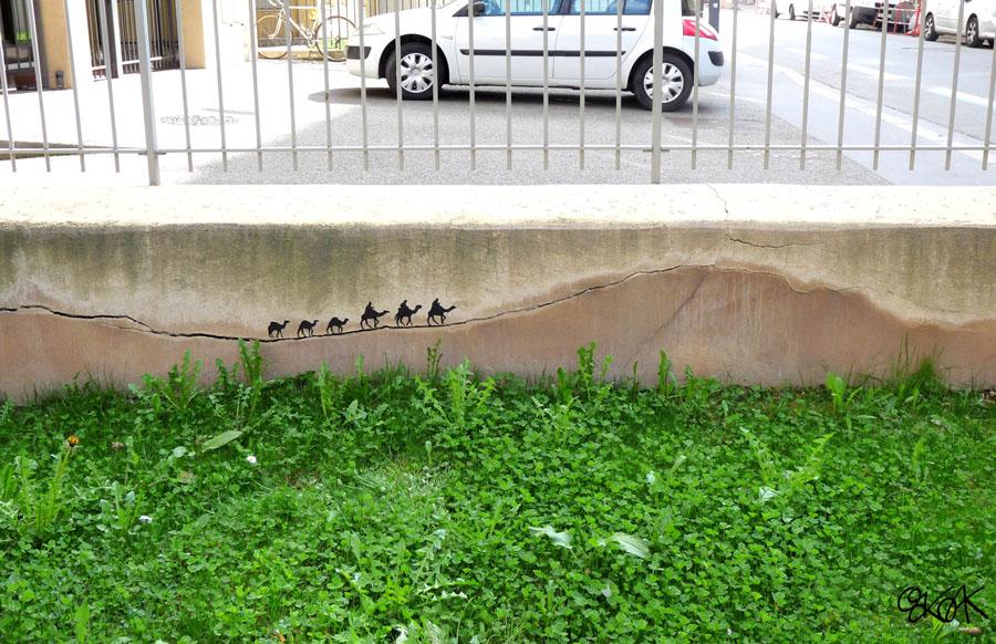 oakoak streetart artiste stephanois