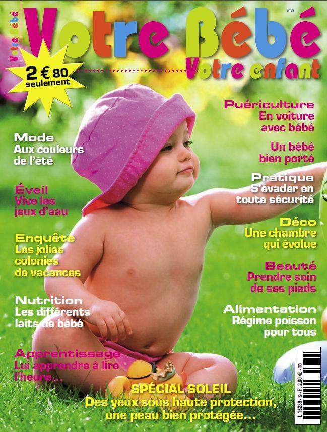 votre bébé, magazine, vêtement bébé bio Peau-Ethique